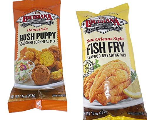 Louisiana fish fry duo one pack each of hush puppy for Fish batter shaker