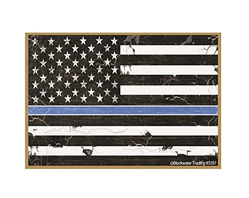 The Thin Blue Line Police Cop Distressed American Flag Gun Safe Fridge Refrigerator Magnet 3.5