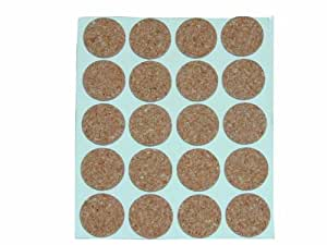 Cork Pads Self-Adhesive Round 12mm (Pack of 1) (Product Code - U-B0251)