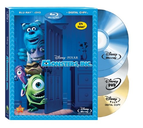 Cover art for  Monsters, Inc. (Four-Disc Blu-ray/DVD Combo + Digital Copy) [Blu-ray]