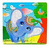 Ularma Madera de los cabritos 16 pieza rompecabezas juguetes para la educaci�n de los ni�os y Puzzles juguetes de aprendizaje (multicolor5)