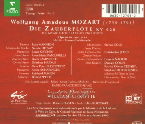 Mozart: die zauberflote / christie