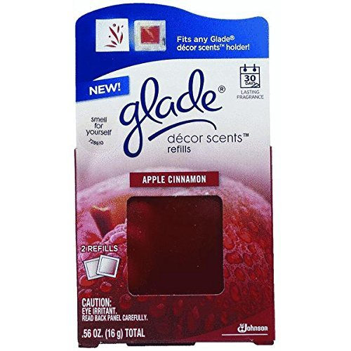Glade Decor Scents Refills Apple Cinnamon Scent Boxed 2 / Pack