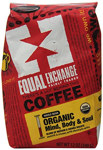 Equal Exchange Organic Whole Bean Coffee, Mind Body & Soul, 12 Ounce (Coffee Beans Whole Foods compare prices)