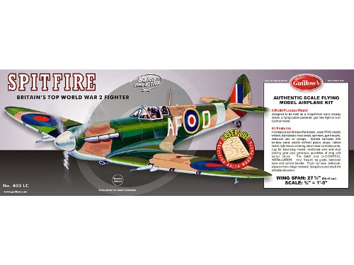 Guillow Supermarine Spitfire Laser Cut Kit 27-5/8
