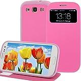 Flip Cover für Samsung Galaxy S3 i9300 SIII Tasche Display-Klappe Akkudeckel Hülle Case Schutz Etui Pink