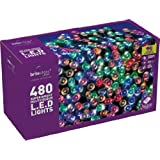 Brite Ideas Festive 480 LED Lights with Eight Multifunctions, Multicolour