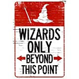 Wizards Only Beyond This Point Sign Poster - 33x48 cm