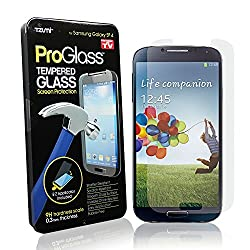 Tzumi ProGlass Premium HD Tempered Glass Samsung Screen Protector for Samsung Galaxy S4 - Maximum Screen Protection from Scratches and Drops - Touchscreen Accuracy and Clarity