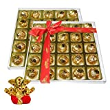 Chocholik's Perfect Combination Of Almond And Fruit & Nut Chocolate Truffles With Small Ganesha Idol - Diwali...