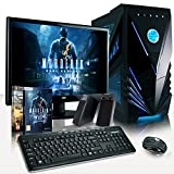 VIBOX Complete Package 3 - Latest High Desktop Gaming PC, Computer Full Package with 2x Top Games, 23