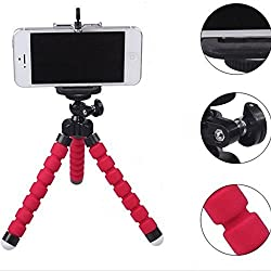 Mini Flexible Sponge Octopus Stand Tripod Mount For iPhone Samsung Camera Video Phone (Red )