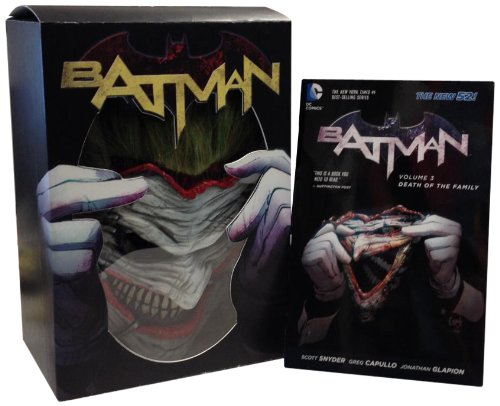 Batman: Death of the Family Book and Joker Mask Set at Gotham City Store
