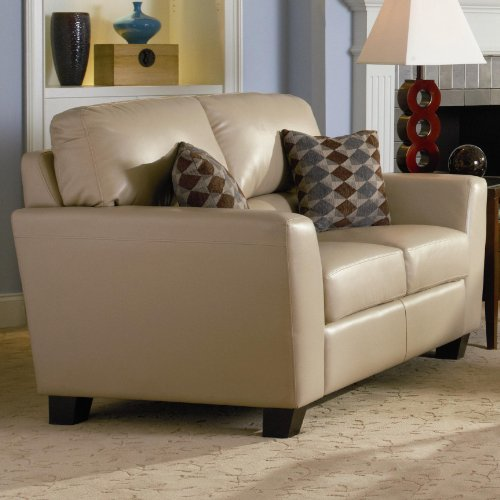 Buy Low Price AtHomeMart Bonded Leather Loveseat (COAS502332)