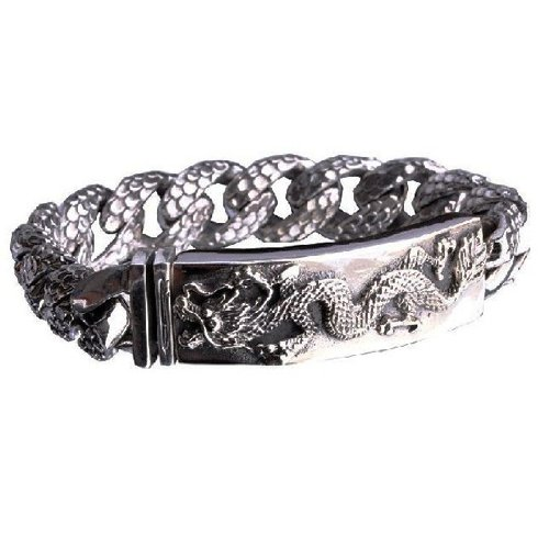 Ancient Dragon Bracelet Thai Silver Jewelers for Guys Cool Jewelry