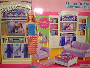 Amazon Barbie Living In Style Living Room Playset