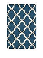SAFAVIEH Alfombra Ava Textured Area Rug, 121 X 182 Cm (Azul Marino)
