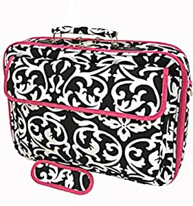 "Damask and Hot Pink Laptop Case Bag 17"" from Private Label"