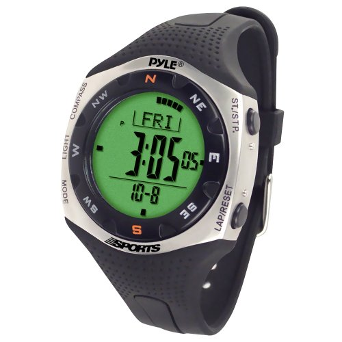 Pyle Sports PSWRM70 Regatta Timer Watch with Digital Compass, 100 Lap Chronograph Memory, Countdown Timer