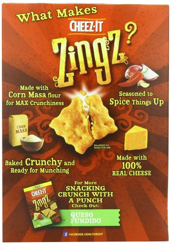 cheezit zingz wafer chipotle cheddar 124 ounce food