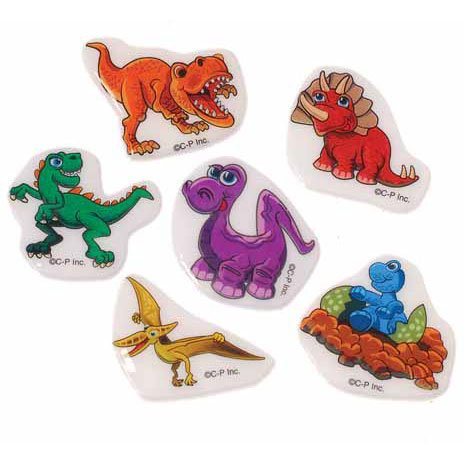 US Toy Assorted Dinosaur Theme Puffy Stickers (Lot of 72) - 1