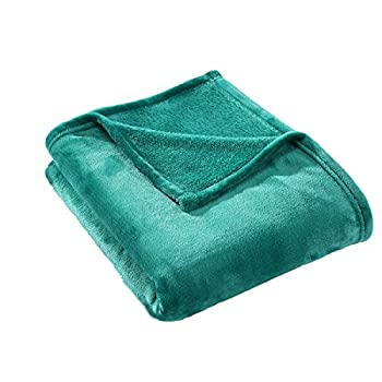 HYSEAS Velvet Plush Throw, Home Fleece Throw Blanket, 50 by 60-Inch, Teal