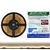 HitLights Warm White High Density(600 LEDs) Flexible LED Light Strip, 16.4 Ft, 12VDC (Adapter Not Included)