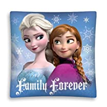 Disney Frozen Girls' Decorative Fan Cushion with 'Family Forever' Text