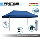 New Eurmax Premium 10x20 Instant Canopy Folding Tent Outdoor Gazebo W / Rolling Bag (Navy Blue)