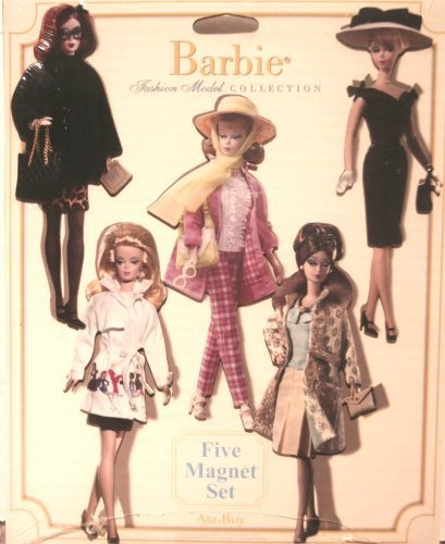 Barbie Fashion Model Collection 5 Piece Magnet Set