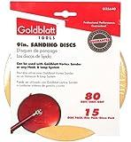 Goldblatt G25640 Vortex 80 Grit 9-Inch Sanding Disk, 15-Pack