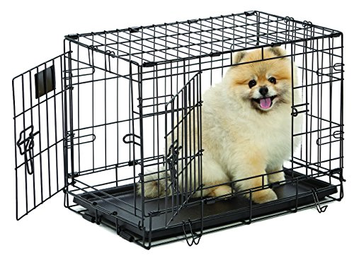 midwest life stages doubledoor folding metal dog crate 22 inches by 13 inches by 16 inches by midwest homes for pets