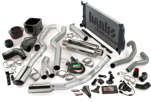 Banks Power 48990 PowerPack System; Performance System; Incl. EconoMind Tuner/Banks iQ/Banks Ram-Air Intake/Techni-Cooler Intercooler/Monster Exhaust; Single;