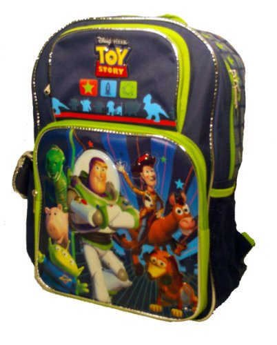 Disney Toy Story 3 Backpack Buzz Lightyear Slinky Dog Woody Rex Bullseye Hamm Squeeze Toy Aliens - Large Full Size