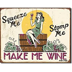 "Moore - Make me Wine Metal Tin Sign 16""W x 12.5""H"