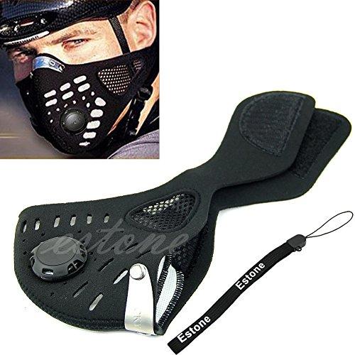 Estone® Anti Dust Cycling Bicycle Bike Motorcycle Racing Ski Half Face Mask Filter front-164044