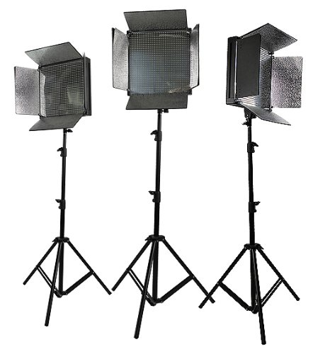 3 X 1008 Led Lite Panel Video Photography Led Lighting Kit With Sony V Mount Adapter Uls1008Led X3