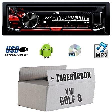 VW Golf 6 VI - JVC KD-R471E - CD/MP3/USB Autoradio - Einbauset
