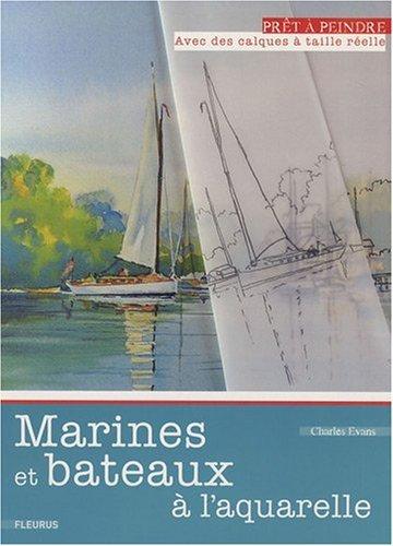 Marines et bateaux à l'aquarelle