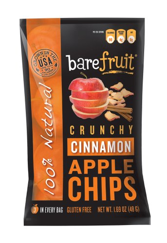 Bare Fruit Crunchy Apple Chips Cinnamon 1 69 Ounce Bags Pack of 10