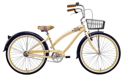 Nirve Women's Paul Frank Art School 1-Speed Co-Branded Bike (Cream, 16-Inch Frame - 26-Inch Wheels)