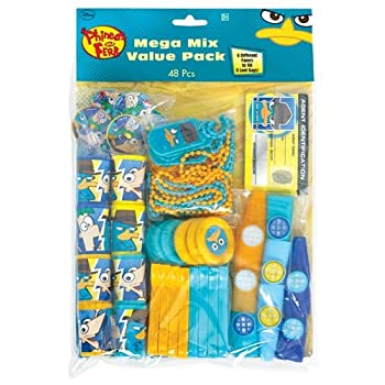 favor pack-48pc phineas and ferb