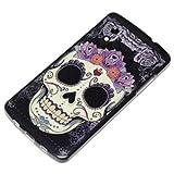 DeinPhone AR-830044 Coque de protection en silicone rigide pour LG Google Nexus 5 Motif t�te de mort Violet