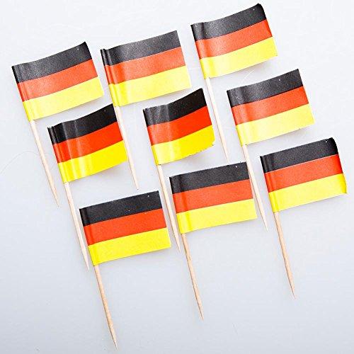 German Flag Food Picks