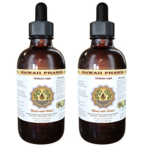 Thyroid Care Liquid Extract, Kelp (Laminaria Hyperborea) Whole Plant, Oatstraw (Avena Sativa) Stem and Leaf, Horsetail (Equisetum Arvense) Herb Tincture Supplement 2x4 oz (Oatstraw Extract 4oz compare prices)