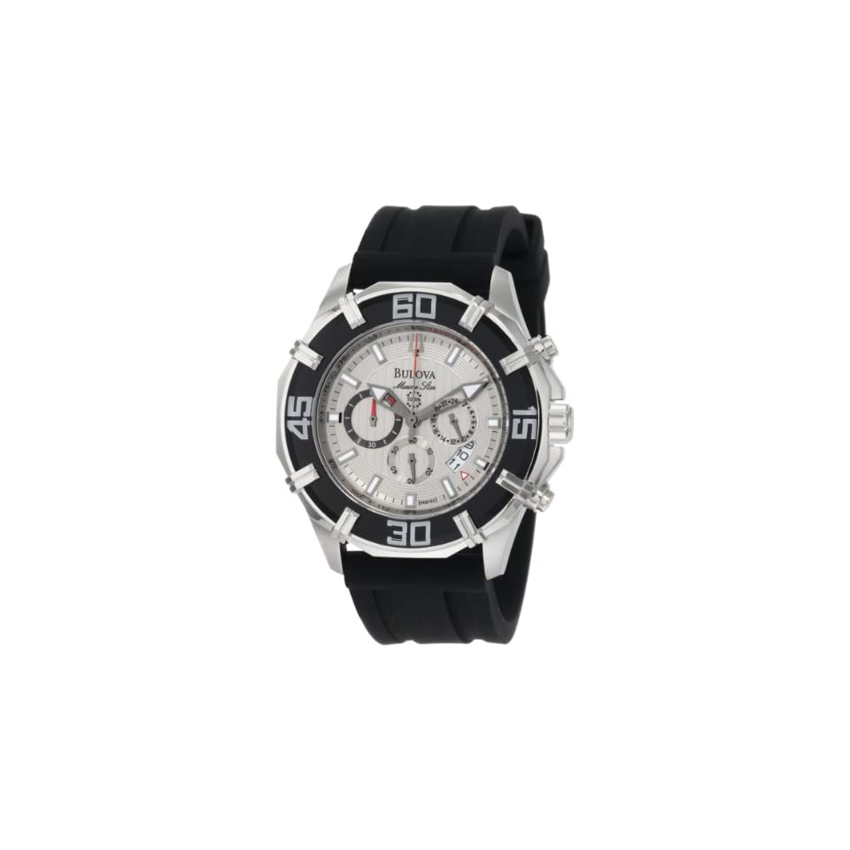 Bulova Mens 96B152 Solano Marine Star Rubber Strap Watch