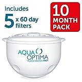 Aqua-Optima-FJ0193-Minerva-Plus-Filter-Jug-with-5-60-day-Filters-Black-10-months-supply