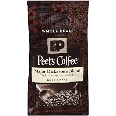 Peets Coffee, Major Dickason's Blend, Whole Bean 32oz (Pack of2)