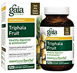 Gaia Herbs Triphala Fruit, Vegan Capsules, 60 Count - Organic Digestion Tonic for Gentle Daily Detox, Helps Maintain Normal Regularity