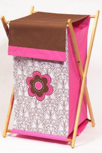Bacati - Damask Pink/chocolate Hamper - 1